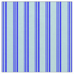 [ Thumbnail: Blue and Powder Blue Colored Stripes Pattern Fabric ]