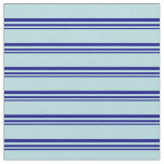 [ Thumbnail: Blue and Powder Blue Pattern of Stripes Fabric ]