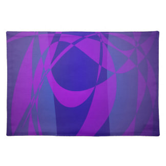 Blue and Purple Abstract Dark Cloth Placemat