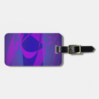 Blue and Purple Abstract Dark Tag For Luggage