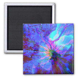 Blue and Purple Abstract Design Magnet