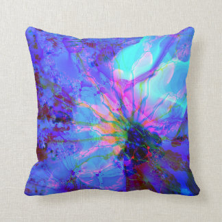 Blue and Purple Abstract Design Throw Pillow