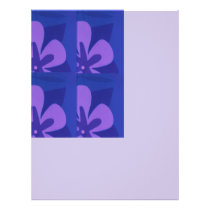 Blue And Purple Abstract Flower Pattern Flyer