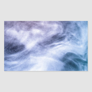 Blue and purple abstract heavenly clouds rectangular sticker