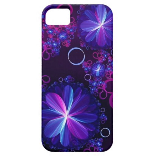Blue and Purple Abstract iPhone 5 Cases