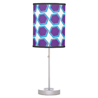 Blue and Purple Abstract Table Lamp