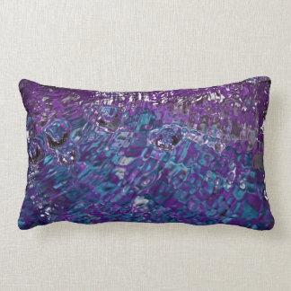 Blue and Purple Abstract Water Photograph Lumbar Pillow
