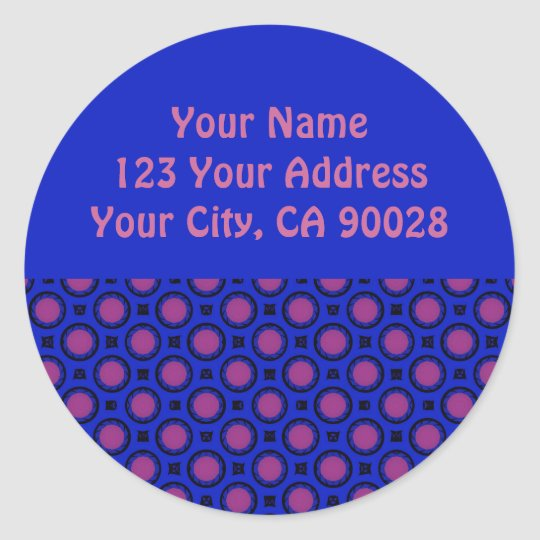 Blue and Purple address labels