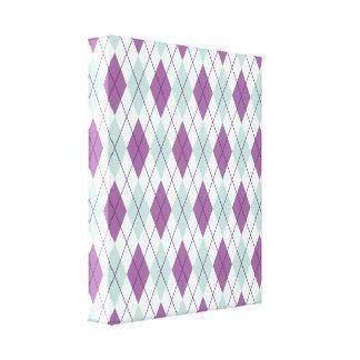 Blue and Purple Argyle Canvas Print