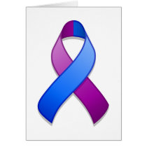 Blue and Purple Awareness Ribbon Card
