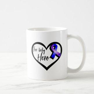 Blue and Purple Awareness Ribbon For My Hero Coffee Mug