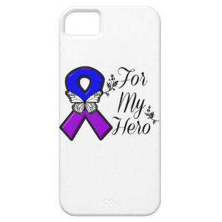 Blue and Purple Awareness Ribbon For My Hero iPhone SE/5/5s Case