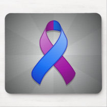 Blue and Purple Awareness Ribbon Mousepad