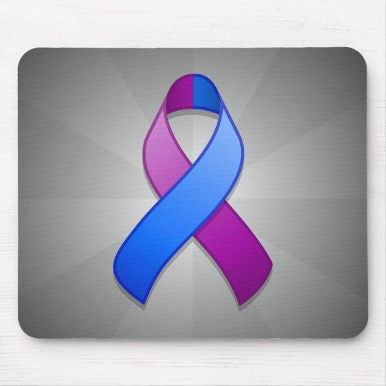 Blue and Purple Awareness Ribbon Mousepad
