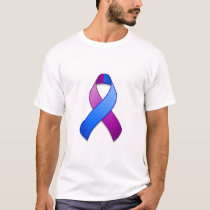 Blue and Purple Awareness Ribbon T-Shirt