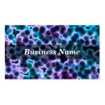 Blue and Purple Cells on Black Background Business Cards