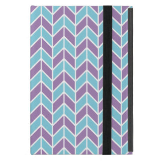 Blue and Purple Chevron Pattern iPad Mini Cover