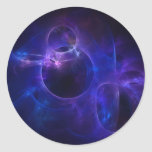 Blue and Purple Circles 1 Round Sticker