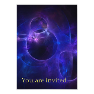 Blue and Purple Circles 5x7 Paper Invitation Card