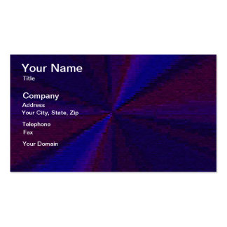 Blue and Purple Circular Patchwork Array 1 Business Card