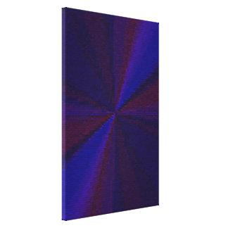 Blue and Purple Circular Patchwork Array 1 Canvas Print