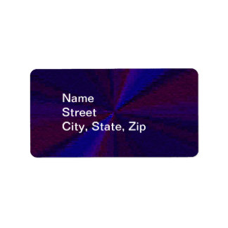Blue and Purple Circular Patchwork Array 1 Label