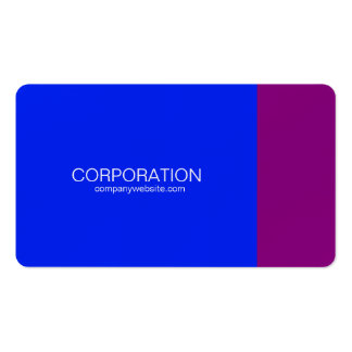 Blue and purple classy business card