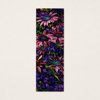 Blue And Purple Coneflower  Book Marker Mini Business Card