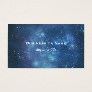 Outer space business cards templates zazzle blue and purple cosmic space image business card colourmoves Image collections