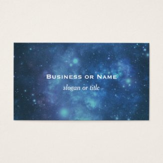 Blue and Purple Cosmic Space Image Business Card