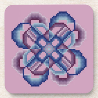 Blue and Purple Crazy Circles Coasters