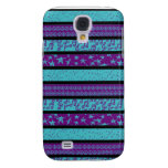 Blue and Purple Cute iPhone cover Galaxy S4 Cover