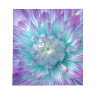 Blue and Purple Dahlia GIft Item Notepad