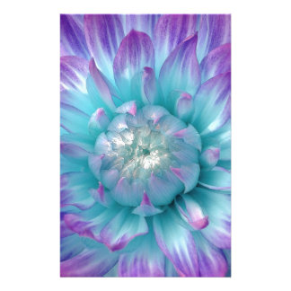 Blue and Purple Dahlia GIft Item Stationery