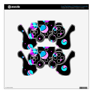 Blue and purple dots PS3 controller skins