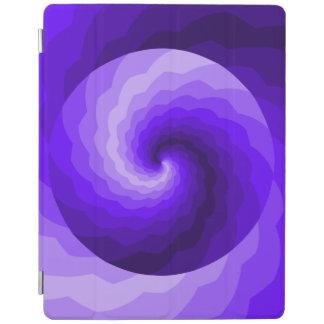 Blue and Purple Double Swirl Design iPad Cover