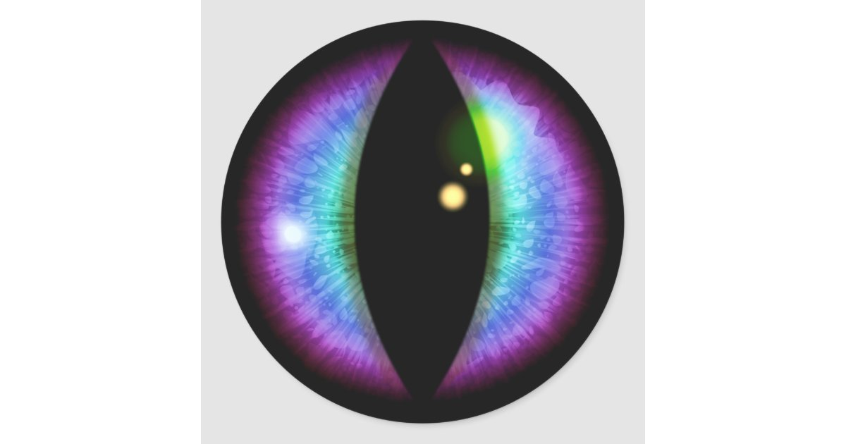 Blue and Purple Dragons Eye Classic Round Sticker