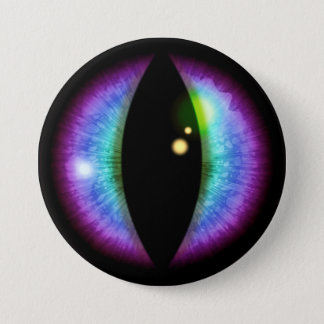 Blue and Purple Dragons Eye Pinback Button