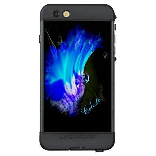 Blue and Purple Flower *personalize* LifeProof NÜÜD iPhone 6s Plus Case