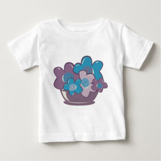 Blue and Purple Flowers Baby T-Shirt