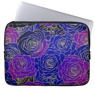 Blue And Purple Flowers Laptop Computer Sleeves