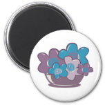 Blue and Purple Flowers Refrigerator Magnets