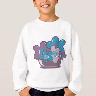 Blue and Purple Flowers Sweatshirt