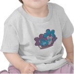Blue and Purple Flowers T Shirt