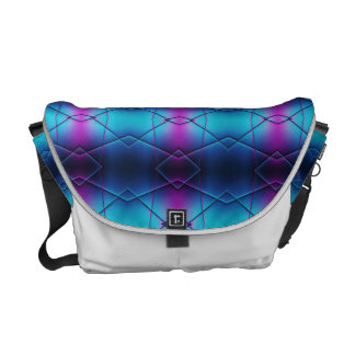 Blue And Purple Gradient Abstract Pattern Courier Bag