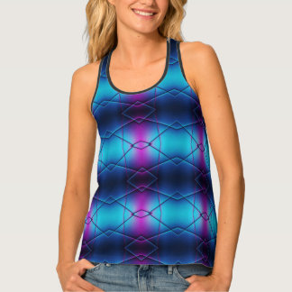 Blue And Purple Gradient Abstract Pattern Tank Top