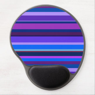 Blue and purple horizontal stripes gel mouse pad