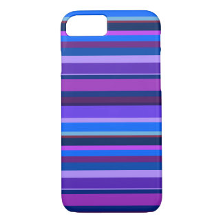 Blue and purple horizontal stripes iPhone 7 case