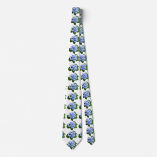 Blue and Purple Hydrangea Neck Tie