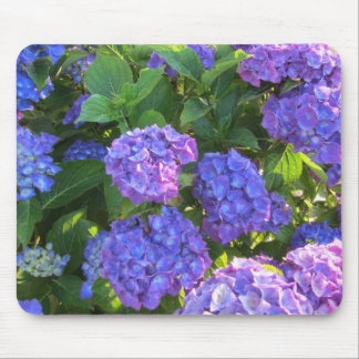 Blue and Purple Hydrangeas Mouse Pad
